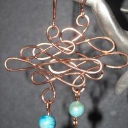 Copper and Turquoise Jasper Celtic Waves